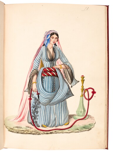 View 4. Thumbnail of Lot 82. EGYPT | Album of seventy six watercolours of Egyptian costume and views, 19th century.