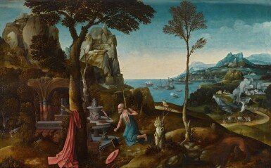 View 1. Thumbnail of Lot 2. Saint Jerome in the wilderness | 《荒野上的聖杰羅姆》.