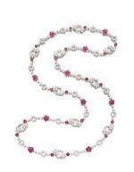 GRAFF | DIAMOND AND RUBY SAUTOIR | 拉夫 | 鑽石 配 紅寶石 長項鏈  (鑽石及紅寶石共重約51.78及32.04卡拉 )