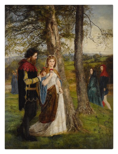 View 1. Thumbnail of Lot 22. JAMES ARCHER   SIR LAUNCELOT AND QUEEN GUINEVERE.