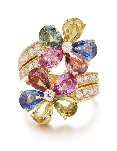 View 1. Thumbnail of Lot 1645.  BULGARI | GEM SET AND DIAMOND RING | 寶格麗 | 寶石 配 鑽石 戒指.