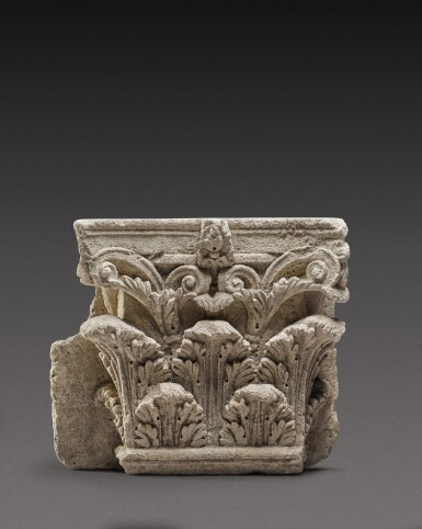 View 1. Thumbnail of Lot 90. A Roman Marble Corinthian Pilaster Capital, circa 2nd Century A.D..