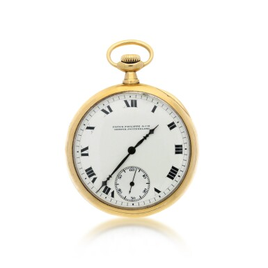 View 1. Thumbnail of Lot 38. PATEK PHILIPPE | A YELLOW GOLD OPEN FACED WATCH, MADE IN 1914.