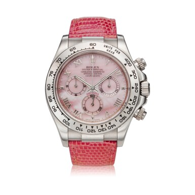 View 1. Thumbnail of Lot 210. Reference 116519 'Daytona Beach'  A white gold automatic chronograph wristwatch, Circa 2000.