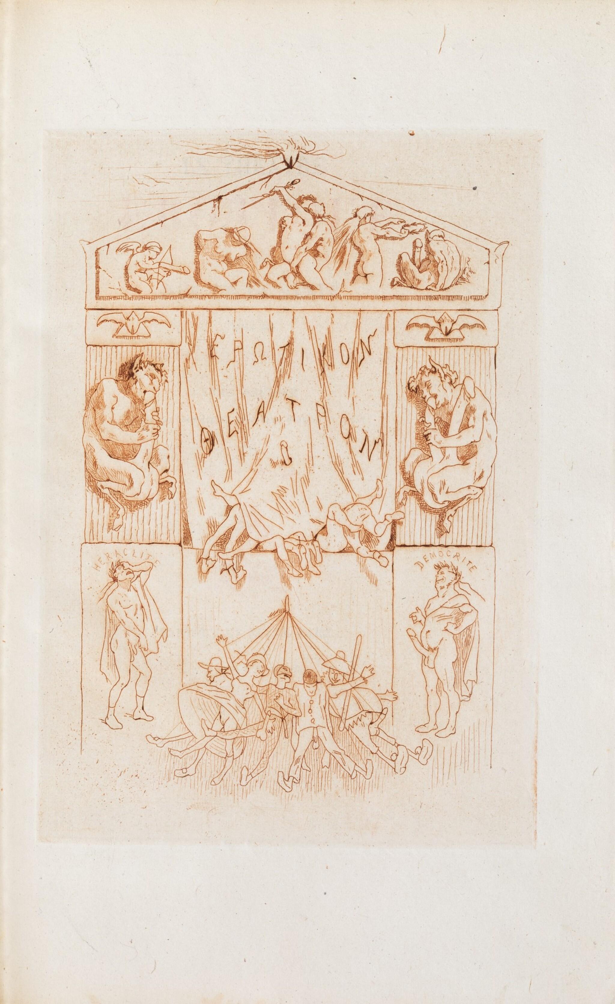 View full screen - View 1 of Lot 87. Le Théâtre érotique de la rue de la Santé]. 1864. Très rare éd. or, exemplaire sur Chine, gravures de Rops.