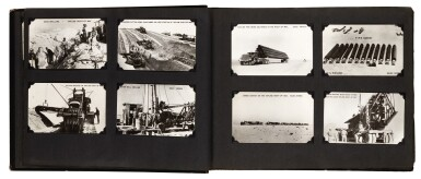 View 5. Thumbnail of Lot 210. Saudi Arabia. Album of photographs of the construction of the Trans-Arabian Pipeline, 1950s.
