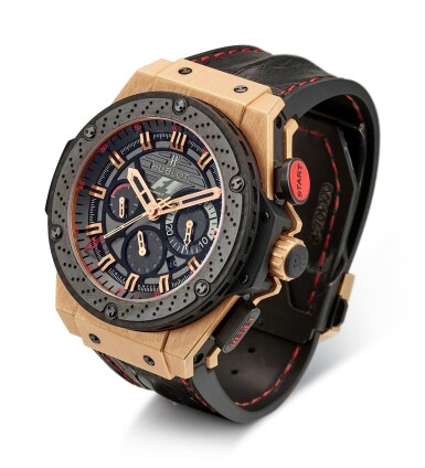 View 2. Thumbnail of Lot 168. HUBLOT | BIG BANG KING POWER, REFERENCE 703.OM.6912.HR.FMC12, A LIMITED EDITION PINK GOLD AND TITANIUM CHRONOGRAPH WRISTWATCH WITH DATE, CIRCA 2012.