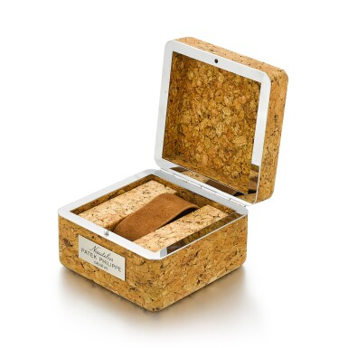 PATEK PHILIPPE | A CORK PRESENTATION BOX MADE FOR THE NAUTILUS, CIRCA 1980