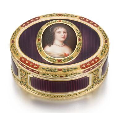 A GOLD AND ENAMEL PORTRAIT SNUFF BOX, PROBABLY JEAN-LOUIS HAUCHARD, HANAU, CIRCA 1780