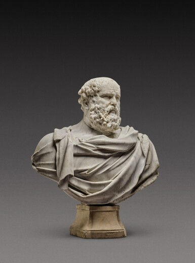 View 2. Thumbnail of Lot 121. Italian, 17th century | Monumental Bust of a Philosopher.