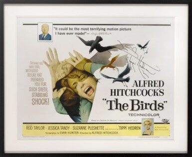 View 2. Thumbnail of Lot 72. THE BIRDS (1963) SIGNED POSTER, US.