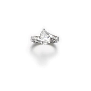A 1.06 Carat Pear-Shaped Diamond, D Color, VVS2 Clarity