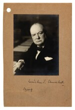 CHURCHILL | signed photograph, with related correspondence