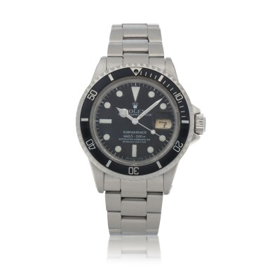 View 1. Thumbnail of Lot 36. 'The Deep' Submariner, Ref. 1680  Stainless steel wristwatch with date and bracelet worn by Nick Nolte in the film 'the Deep'  Circa 1975 | 勞力士1680型號「Submariner」精鋼鍊帶腕錶備日期顯示,演員 Nick Nolte 曾在電影《The Deep》中佩戴此錶,年份約1975.