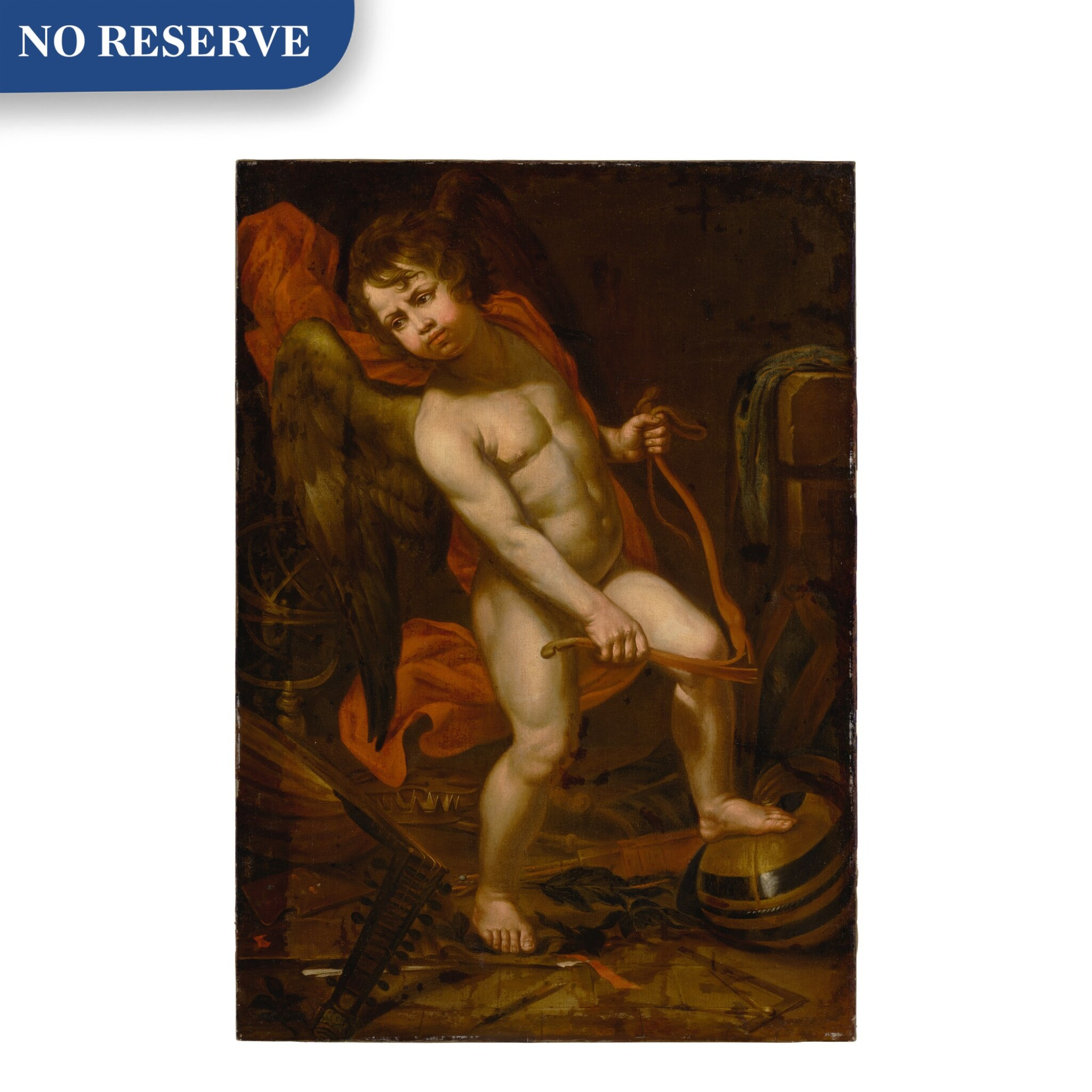 View full screen - View 1 of Lot 644. Cupid breaking his bow.