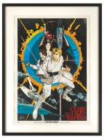 STAR WARS POSTER, HOWARD CHAYKIN, US, 1976, SIGNED BY MARK HAMILL