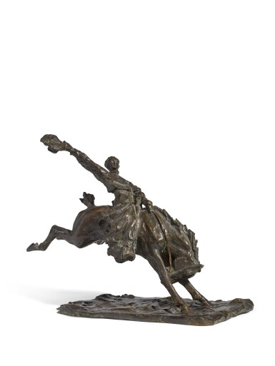Bucking bronco: a bronze figural group, after the model by Prince Paolo Troubetzkoy (1866 - 1938), 1933