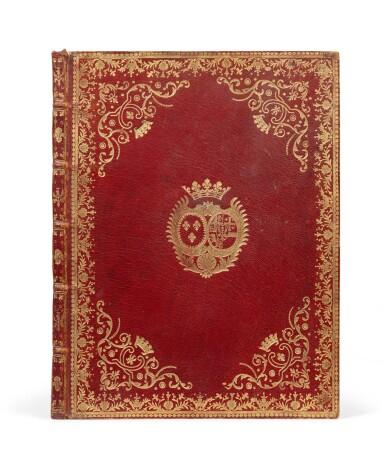 View 1. Thumbnail of Lot 83. Six sonates à violon seul. [Vers 1770]. In-4. Maroquin rouge aux armes de la ctsse de Provence..