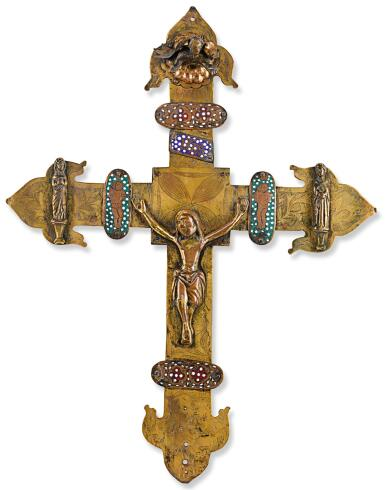 SPANISH, PROBABLY ARAGON, LATE 14TH CENTURY AND LATER   PROCESSIONAL CROSS