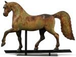 VERY FINE FULL-BODIED CAST-IRON FORMAL HORSE WEATHERVANE, CIRCA 1890