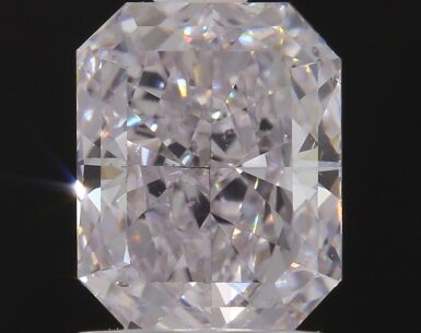 A 1.50 CaratVery Light Pink Cut-Cornered Rectangular Diamond, SI1 Clarity
