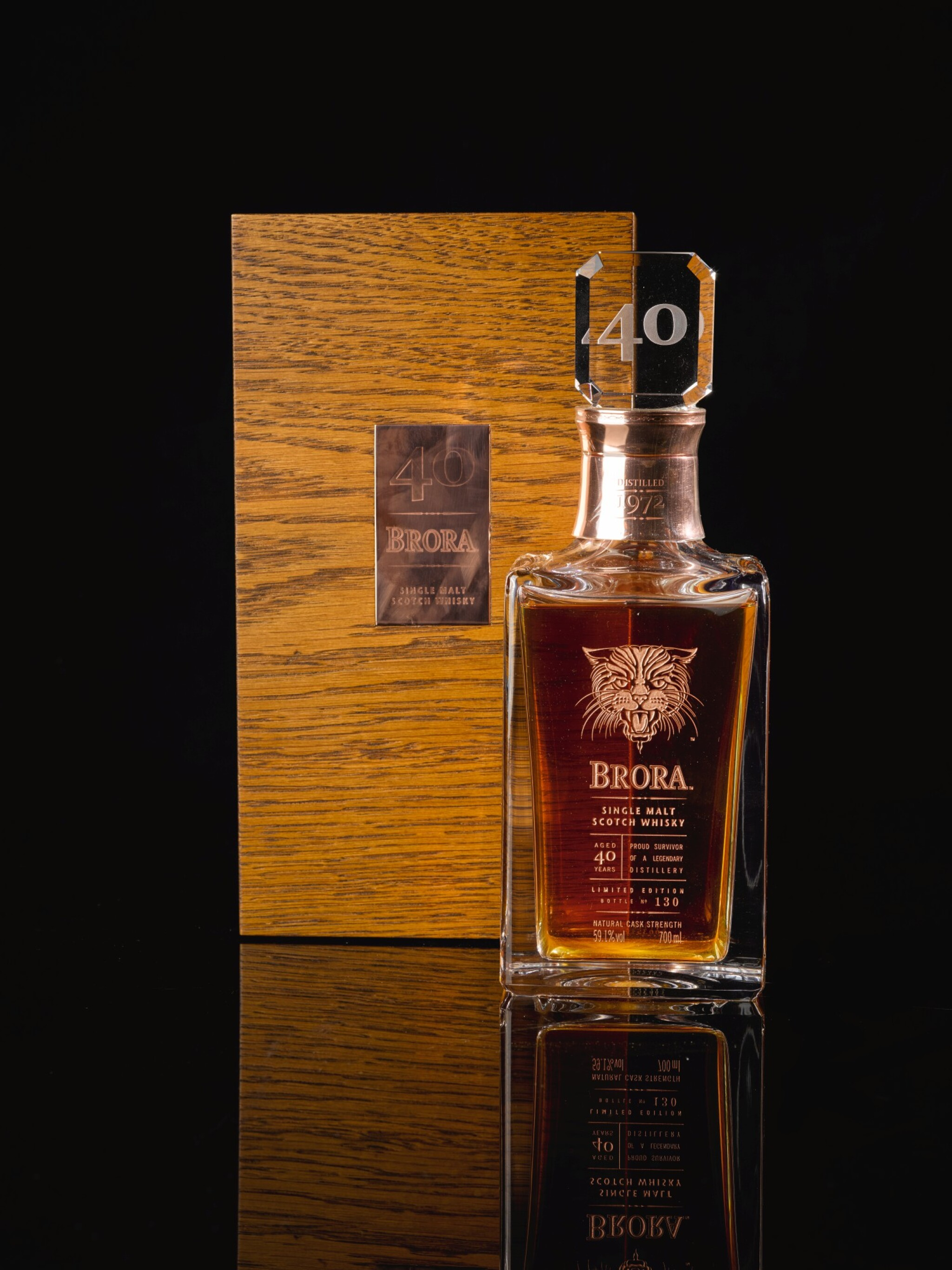 View full screen - View 1 of Lot 385. BRORA LIMITED EDITION 40 YEAR OLD 59.1 ABV 1972   .