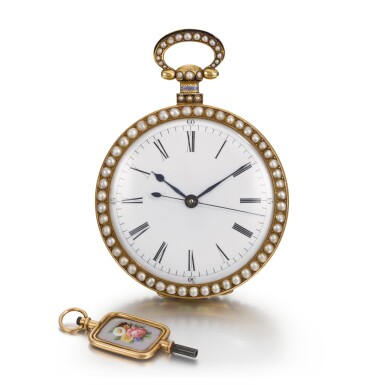 View 3. Thumbnail of Lot 292. BOVET FLEURIER | A PAIR OF GOLD, ENAMEL AND PEARL-SET WATCHES MADE FOR THE CHINESE MARKET, CIRCA 1825, NO. 176.