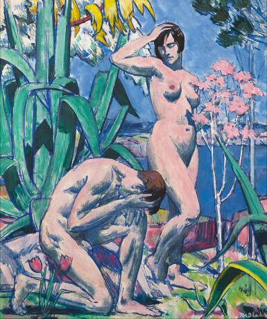 View 1. Thumbnail of Lot 53. FRANCIS CAMPBELL BOILEAU CADELL, R.S.A., R.S.W. | ADAM AND EVE.