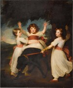 JOHN WESTBROOKE CHANDLER |  PORTRAIT OF ALEXANDER MURRAY AND HIS SISTERS, FULL-LENGTH, WITH A MASTIFF, IN A LANDSCA