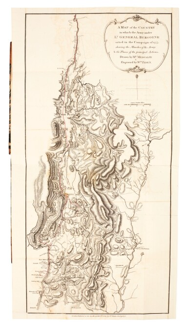 View 1. Thumbnail of Lot 110. Burgoyne | A State of the Expedition from Canada, 1780.