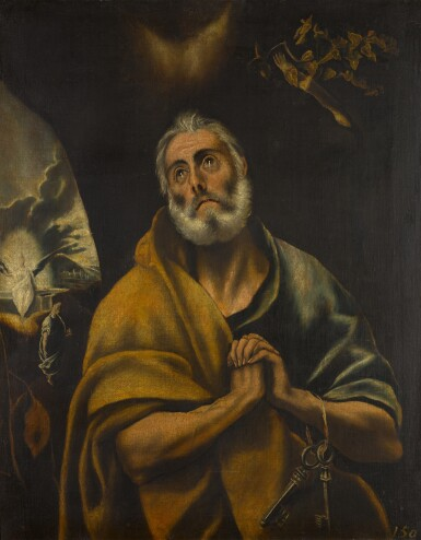 WORKSHOP OF DOMÉNIKOS THEOTOKOPOULOS, CALLED EL GRECO   THE TEARS OF SAINT PETER