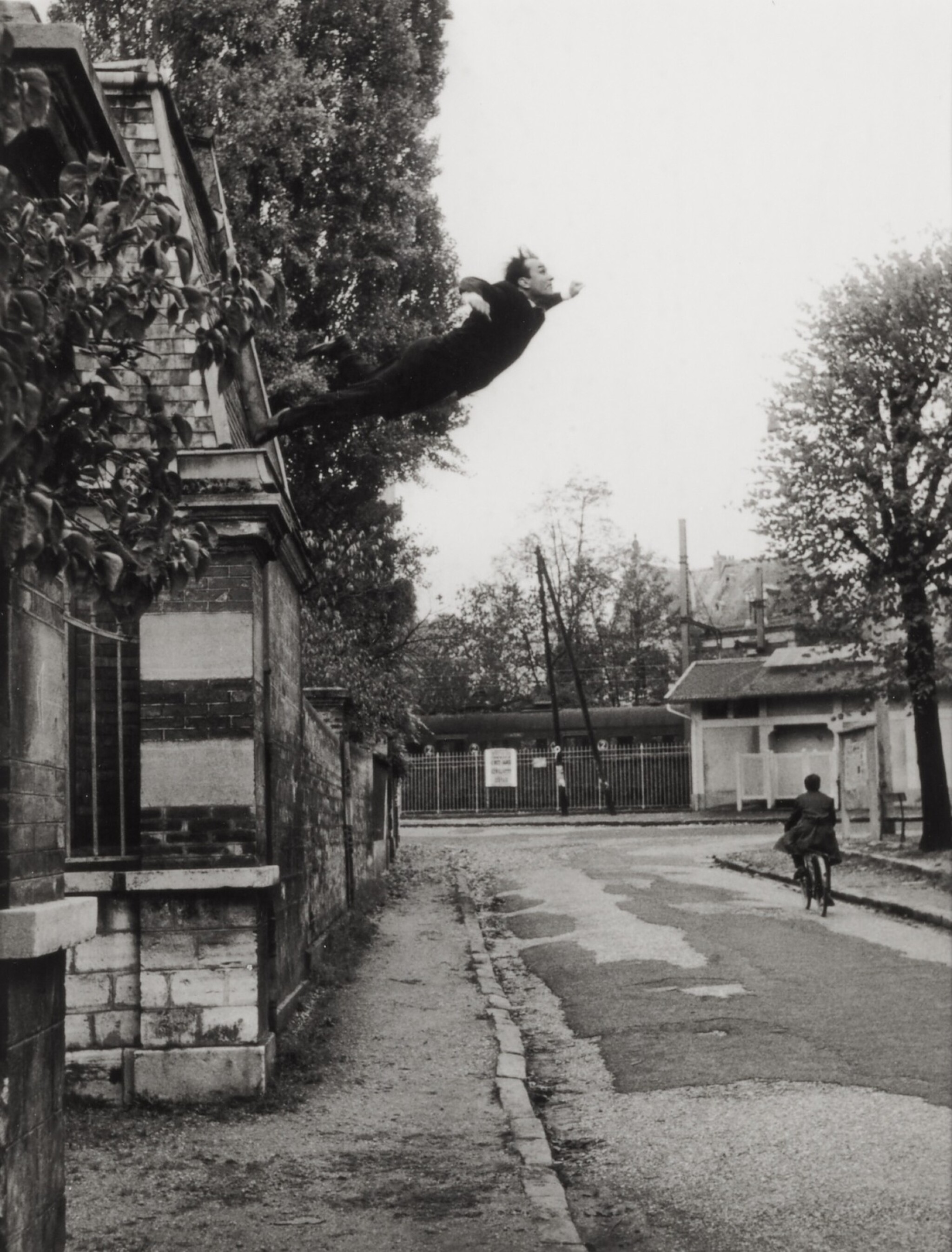 View full screen - View 1 of Lot 1. Leap into the Void (5, rue Gentil-Bernard, Fontenay-aux-Roses, October 1960) (Artistic action by Yves Klein - Collaboration with Harry Shunk and János Kender).