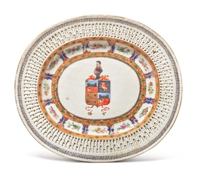 View 3. Thumbnail of Lot 466. A Rare Chinese Export Armorial Part Dinner Service for the Portuguese Market, Qing Dynasty, Jiaqing/ Daoguang Period, circa 1820 | 清嘉慶 / 道光  約1820年  粉彩紋章圖餐具組.