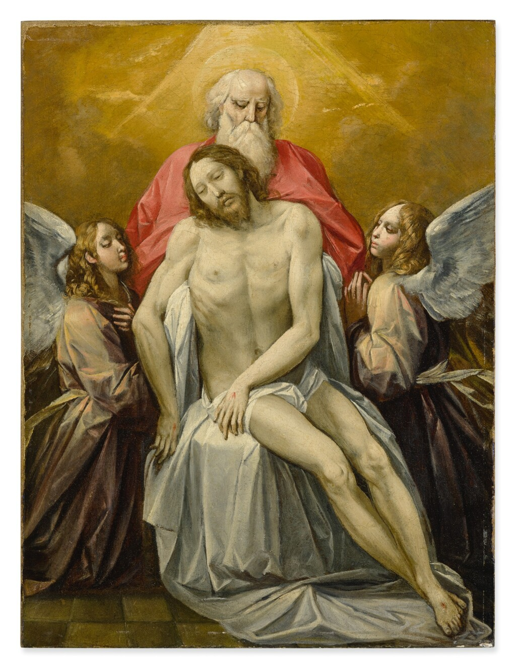 GIUSEPPE CESARI, CALLED CAVALIERE D'ARPINO | THE DEAD CHRIST SUPPORTED BY GOD THE FATHER AND TWO ANGELS