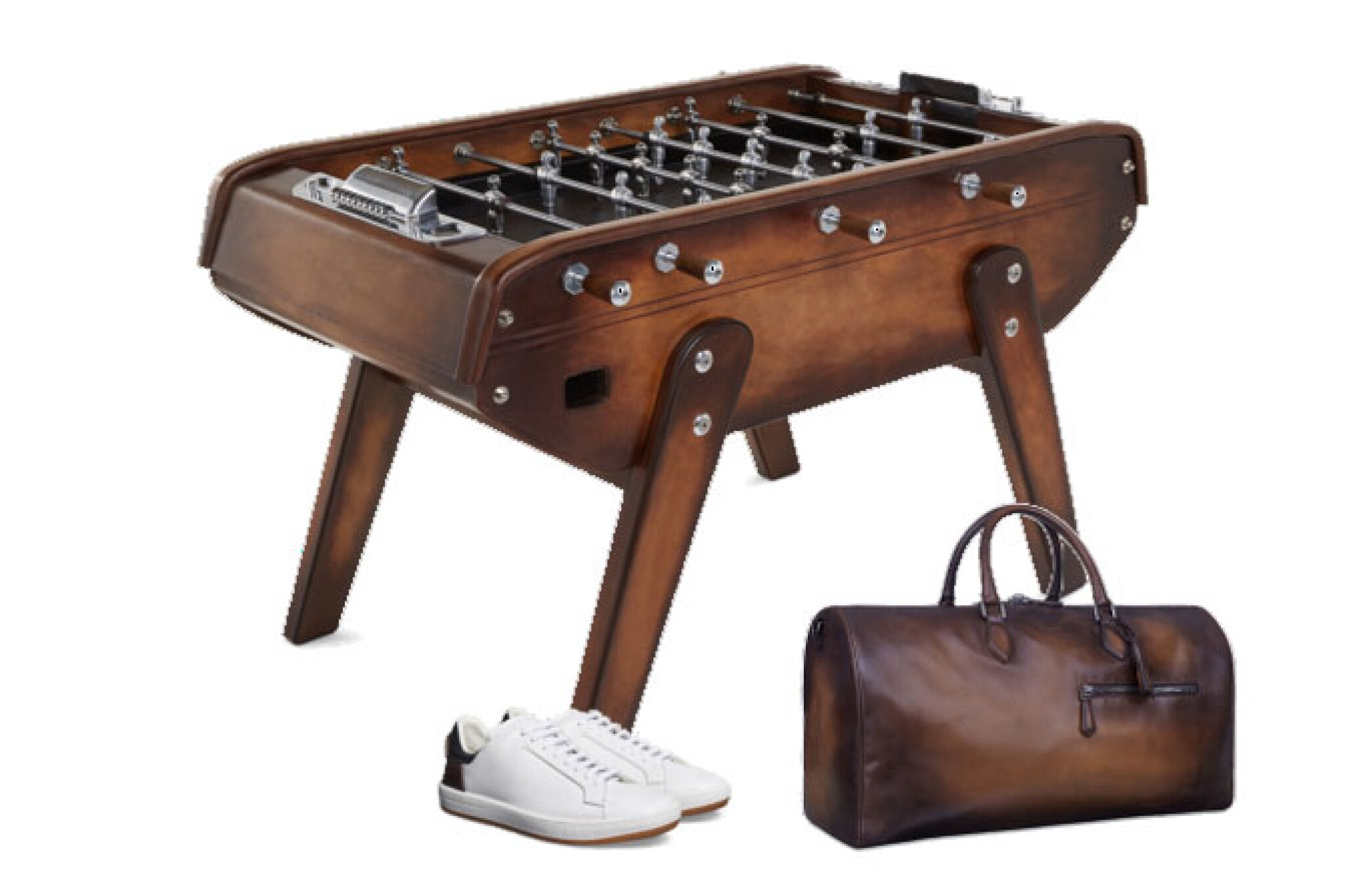 View full screen - View 1 of Lot 11. Berluti   Table Football, Travel Bag Jour Off Gm and Sneakers Outline (Baby Foot, Sac de Voyage Jour Off Gm et Sneakers Outline)  [3 Items / Articles].