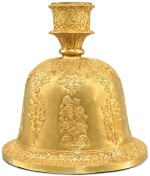 A GOLD HUQQA BASE, NORTH INDIA, PROBABLY KUTCH, DATED 3 BHADRA 94/AUGUST-SEPTEMBER 1751 OR 1851 AD