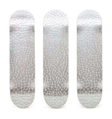 View 1. Thumbnail of Lot 9003.  草間彌生 Yayoi Kusama | 無限網滑板(三聯作) Infinity Nets Skateboard (triptych).