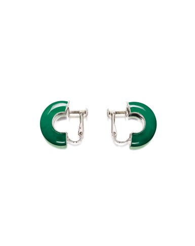 View 2. Thumbnail of Lot 1721. Jadeite, Diamond and Ruby Ring; and Pair of Jadeite Ear Clips | 天然翡翠 配 鑽石 及 紅寶石 戒指; 及 天然翡翠耳環一對.