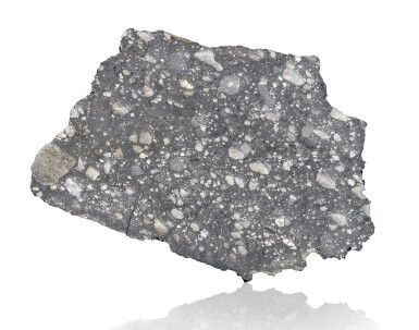 NOTABLE OFFERING OF A LUNAR METEORITE — END PIECE OF THE QUINTESSENTIAL LUNAR BRECIA, NWA 12691