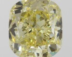 A 1.01 Carat Fancy Yellow Cushion-Cut Diamond, SI1 Clarity