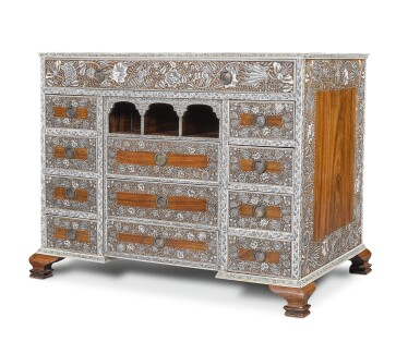 View 7. Thumbnail of Lot 175. AN ANGLO-INDIAN IVORY INLAID ROSEWOOD WRITING OR DRESSING TABLE, VIZAGAPATAM, MID-18TH CENTURY.