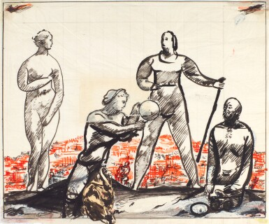 SOLOMON BORISOVICH NIKRITIN | Study for The Old and the New