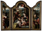PIETER COECKE VAN AELST THE ELDER AND WORKSHOP | TRIPTYCH WITH THE ADORATION OF THE MAGI
