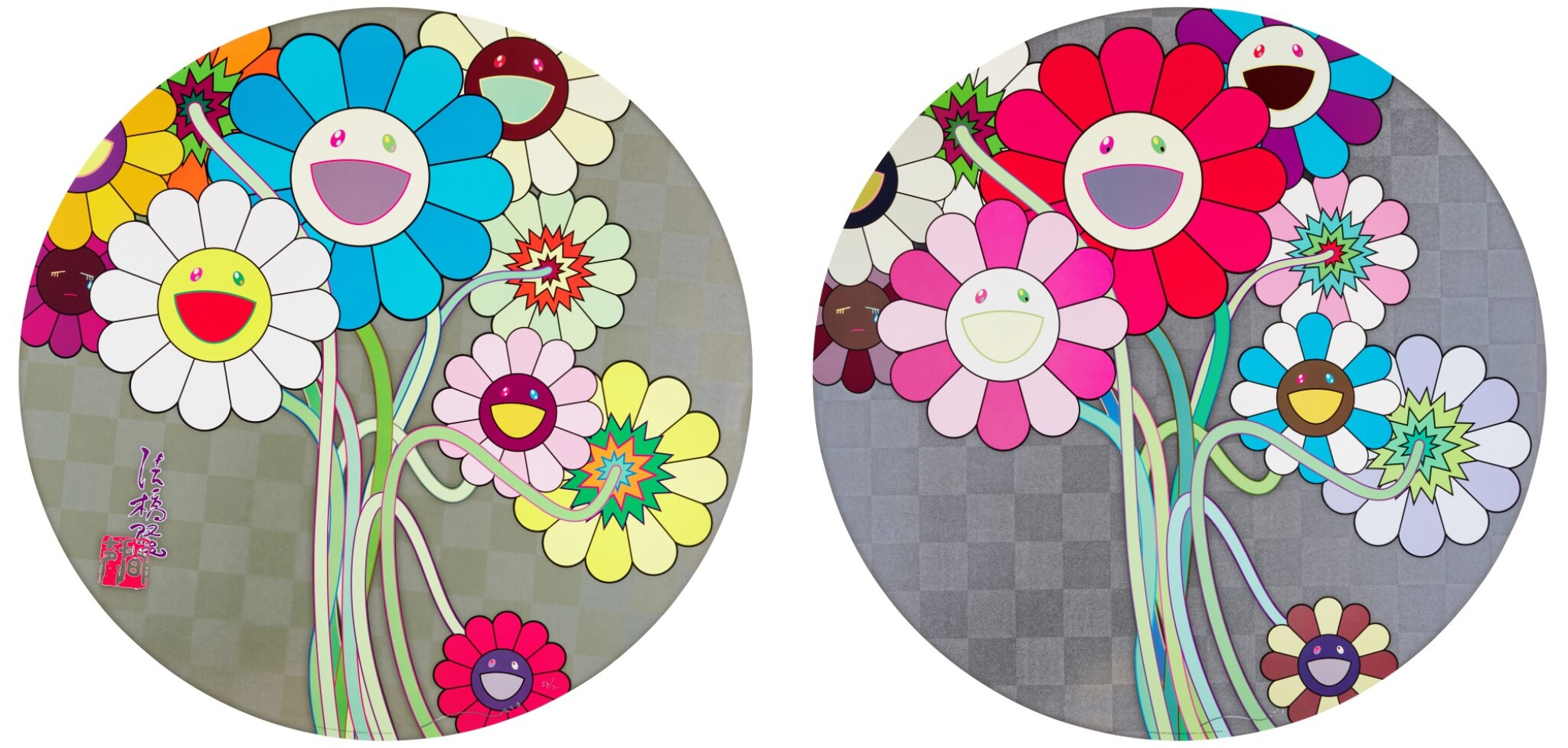 View full screen - View 1 of Lot 36. TAKASHI MURAKAMI   FLOWERS FOR ALGERNON; AND WARHOL/SILVER.