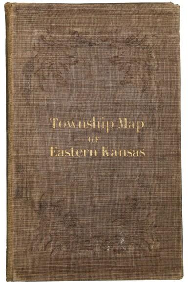 View 2. Thumbnail of Lot 124. KANSAS—WHITMAN, E. B., AND A. D. SEARL   Map of Eastern Kansas. Lawrence, Kansas [Boston: J. P. Jewett and Co.], 1856.
