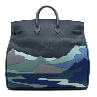 View 3. Thumbnail of Lot 108. HERMÈS   BLUE DE PRUSSE LIMITED EDITION ENDLESS ROAD BIRKIN 50 HAUTE Á COURROIERS IN TOGO, SWIFT AND CLEMENCE LEATHER WITH PALLADIUM HARDWARE, 2019.