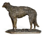 Standing Borzoi: a bronze figure, after the model by Nikolai Lieberich (1828-1883), late 19th century