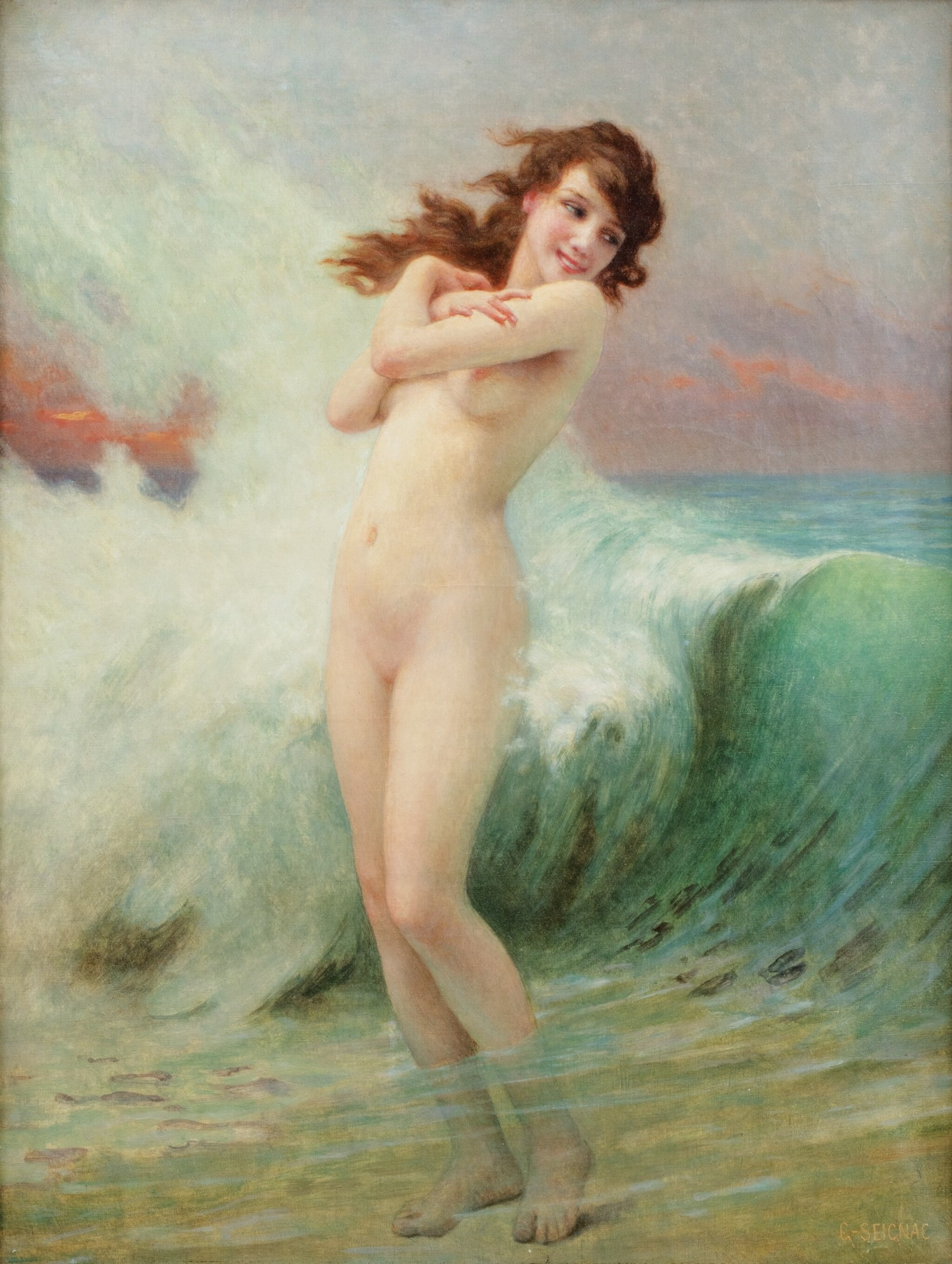 View full screen - View 1 of Lot 122. GUILLAUME SEIGNAC   THE WAVE.