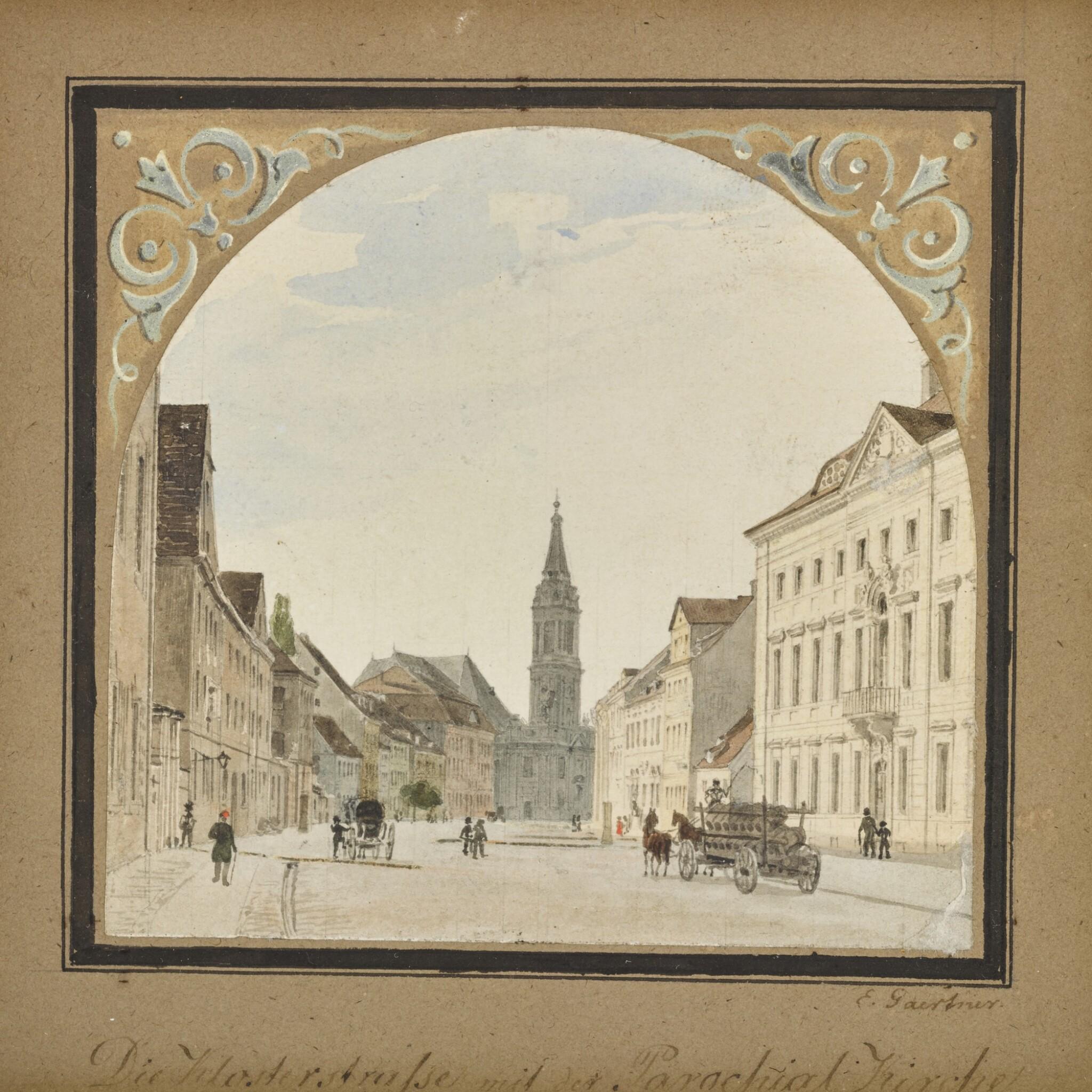 View 1 of Lot 44. Die Klosterstrasse mit Parochialkirche (Klosterstrasse with the Parochialkirche).