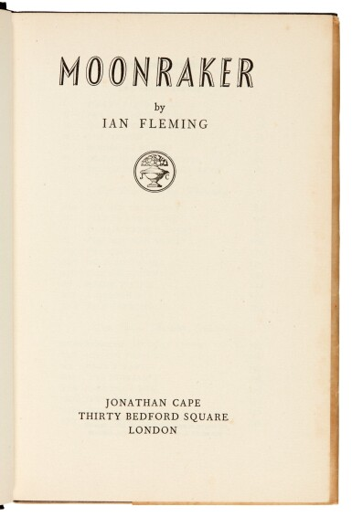 View 8. Thumbnail of Lot 16. FLEMING   Moonraker, 1955, first edition, presentation copy inscribed to Raymond Chandler.